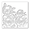 Simon Says Stamp Stencil Peony Bouquet