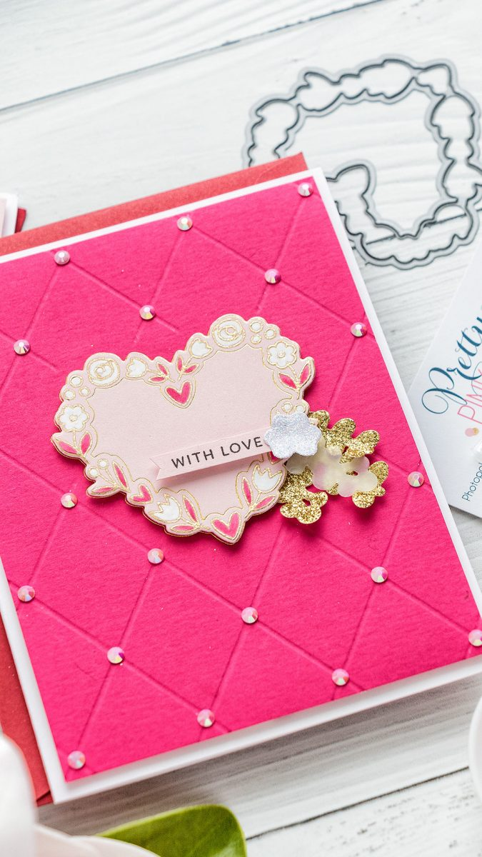 Pretty Pink Posh | Valentine's Day Cards featuring Hot Foiling with Coordinating Dies. Video tutorial by Yana Smakula #prettypinkpost #hotfoil #cardmaking