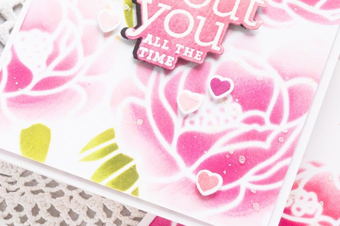 Simon Says Stamp | Peony Bouquet Ink Blended Card. Video tutorial by Yana Smakula #cardmaking #simonsaysstamp