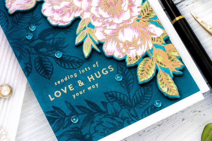 Simon Says Stamp | Lots of Love & Hugs card by Yana Smakula featuring Beautiful Flowers clear stamp sss101826 #SimonSaysStamp #Cardmaking #Stamping