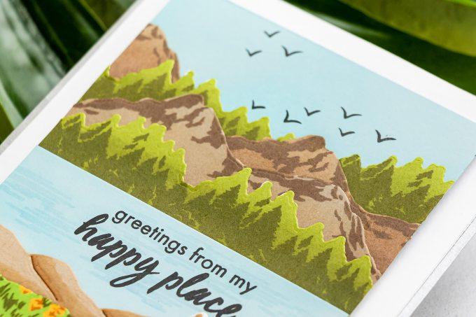 Hero Arts | Color Layering Mountains at the Lake Cards. Video tutorial by Yana Smakula #heroarts #colorlayering #cardmaking