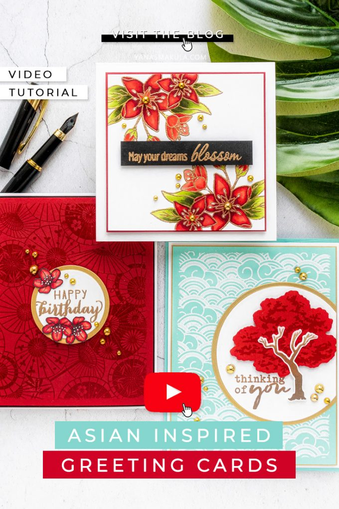 Hero Arts | March 2020 My Monthly Hero Kit & Add Ons – Asian Greeting Cards by Yana Smakula #mmh #heroarts #cardmaking #stamping