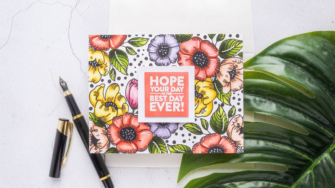 Simon Says Stamp | Background Stamping with Thankful Flowers. Video tutorial by Yana Smakula featuring THANKFUL FLOWERS sss201905 #simonsaysstamp #cardmaking #patternstamping