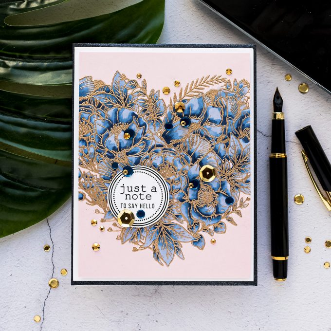 Simon Says Stamp | Heat Embossing & Copic Markers. Video tutorial by Yana Smakula #simonsaysstamp #cardmaking #stamping #copiccoloring
