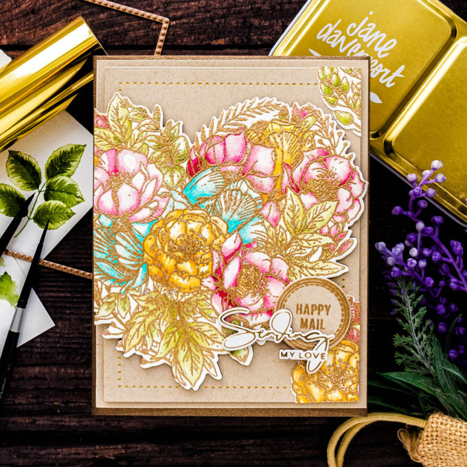 Simon Says Stamp | Watercolor Happy Mail Card by Yana Smakula featuring BOTANICAL HEART sss202083 #simonsaysstamp #cardmaking #SSSunitedwecraft