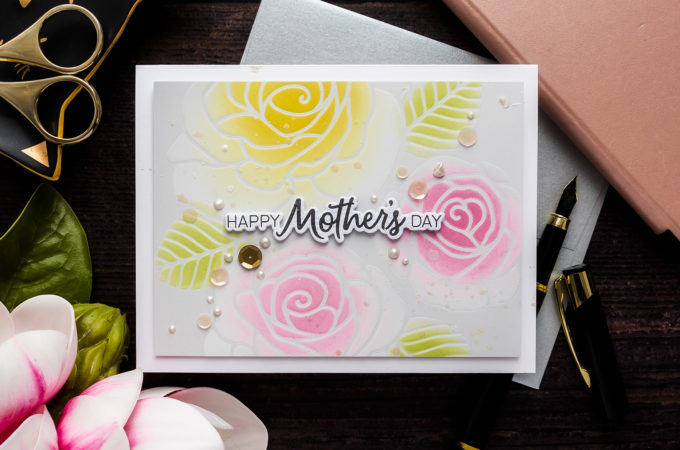 Simon Says Stamp | Ink Blended Mother's Day Card by Yana Smakula #simonsaysstamp #SSSSunnyDaysAhead #SSSendACard #SSSUnitedWeCraft