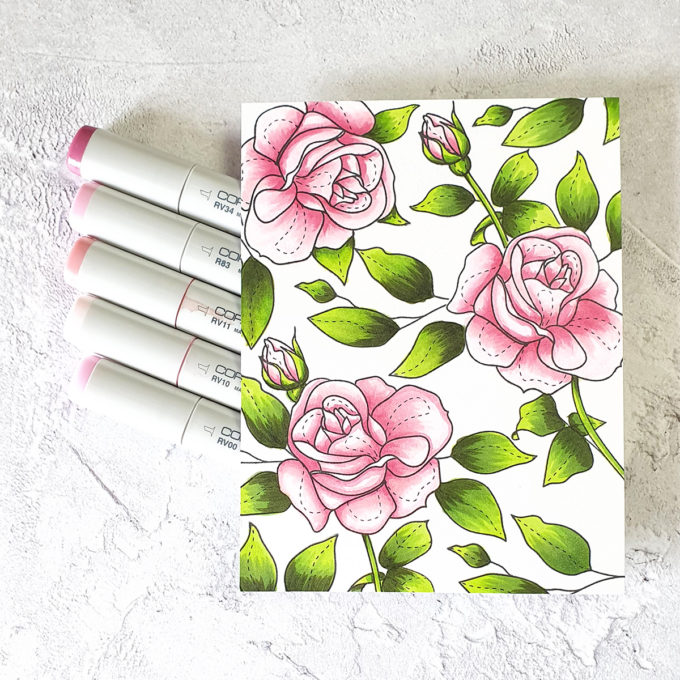 Simon Says Stamp | Rose Pattern Mother's Day Card featuring SPRING FLOWERS 4 sss202116 #simonsaysstamp #mothersdaycard #SSSunitedwecraft