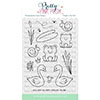 Pretty Pink Posh Pond Friends Clear Stamps
