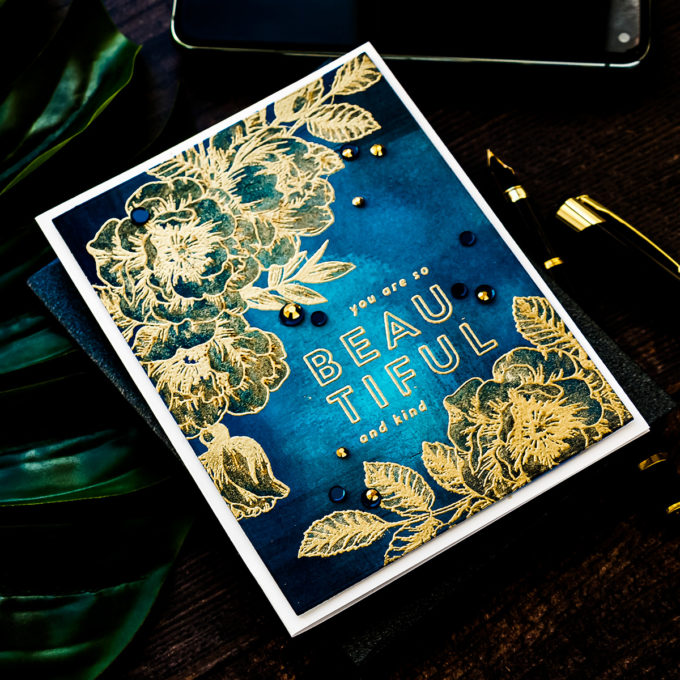 Simon Says Stamp | You Are Beautiful Handmade Greeting card by Yana Smakula featuring BEAUTIFUL FLOWERS sss101826 #Simonsaysstamp #cardmaking #stamping #handmadecard