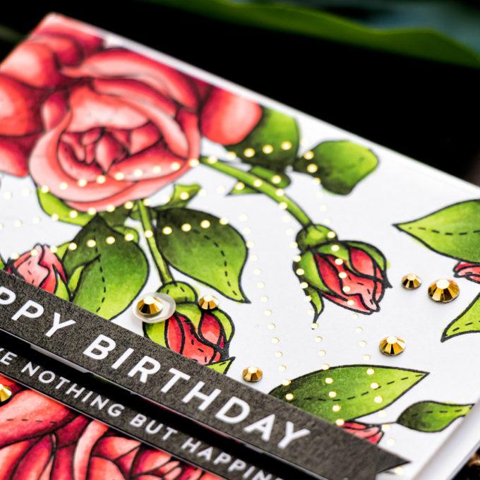 Simon Says Stamp | Pattern Stamping with Masking Paper by Yana Smakula featuring SPRING FLOWERS 4 sss202116 stamp set #simonsaysstamp #cardmaking #patternstamping