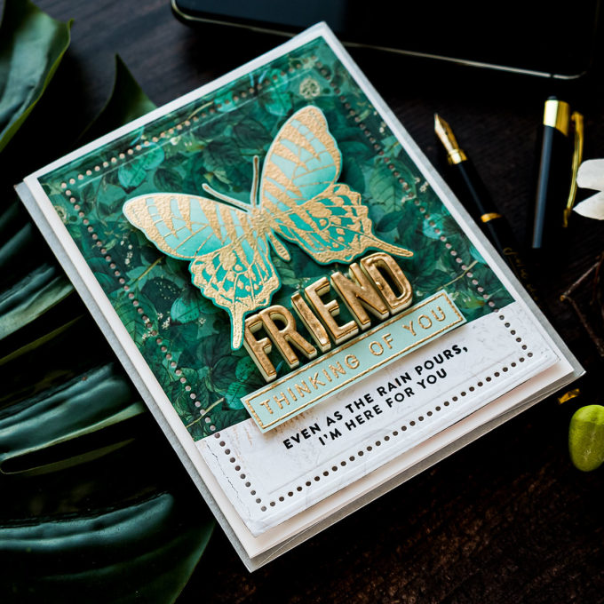 Simon Says Stamp | June 2020 Card Kit Inspiration - Thinking of You Friend Card by Yana Smakula #sssck #simonsaysstamp #cardmaking