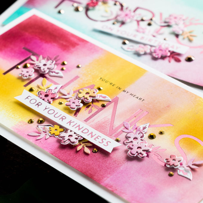 Partial Foiling How To featuring Spellbinders May 2020 Glimmer Hot Foil Kit of the Month and GLP-168 Especially For You Glimmer Hot Foil Plate & Die Set. Video tutorial by Yana Smakula #Spellbinders #GlimmerHotFoil #HotFoil #Cardmaking