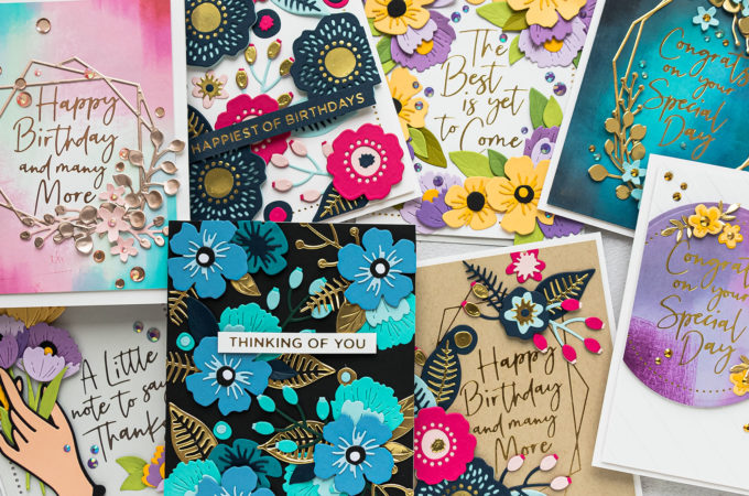Spellbinders June 2020 Club Kits Card Ideas by Yana Smakula #Spellbinders #SpellbindersClubKits #Cardmaking #DieCutting #HotFoil