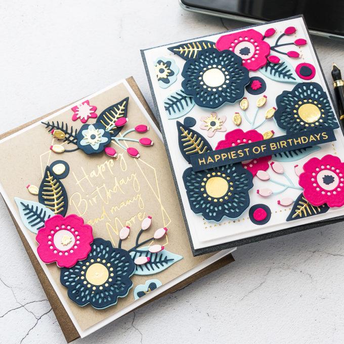 Spellbinders June 2020 Club Kits Card Ideas by Yana Smakula #Spellbinders #SpellbindersClubKits #Cardmaking #DieCutting #HotFoil