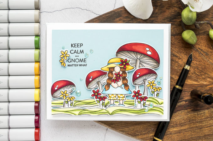 Simon Says Stamp   Keep Calm... Gnome Matter What Greeting Card by Yana Smakula featuring CHILLIN GNOMES sss102136 #simonsaysstamp #cardmaking #SSSSendHappiness #SSSendACard #SSSUnitedWeCraft