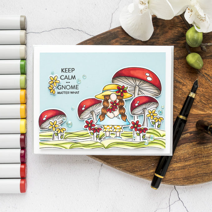 Simon Says Stamp | Keep Calm... Gnome Matter What Greeting Card by Yana Smakula featuring CHILLIN GNOMES sss102136 #simonsaysstamp #cardmaking #SSSSendHappiness #SSSendACard #SSSUnitedWeCraft