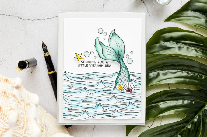Simon Says Stamp | Sending You Vitamin Sea handmade card by Yana Smakula featuring BE A MERMAID sss102129 #simonsaysstamp #cardmaking #stamping #handmadecard