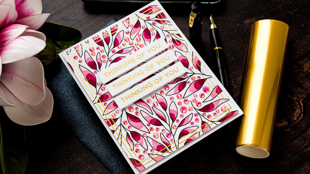 Simon Says Stamp | Thinking of You. Blending Free Coloring with Alcohol Markers Take #4 #simonsaysstamp #cardmaking #patternstamping