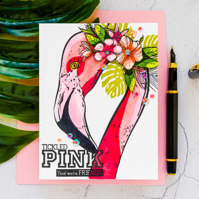 Colorado Craft Company | July 2020 | Cardmaking & Coloring in Graphic Style. No Blending Copic Coloring with Big & Bold sets. Video + Giveaways #cardmaking #coloradocraftcompany #copiccoloring #stamping