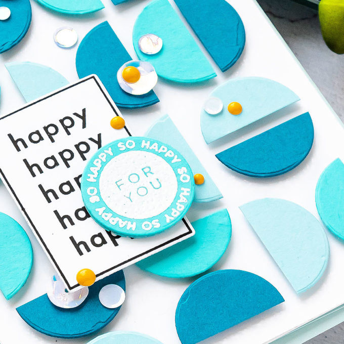 Simon Says Stamp | Circles, Half Circles and Graphic Patterns - So Happy For You Card by Yana Smakula featuring APPY DAYS czs54 stamp set #cardmaking #simonsaysstamp #handmadecard #SSSSendHappiness #SSSendACard #SSSUnitedWeCraft