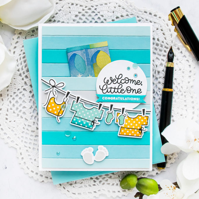 Simon Says Stamp | Welcome Little One Baby Card by Yana Smakula featuring OH BABY sss101815 #cardmaking #simonsaysstamp #copiccoloring #copicmarkers #handmadecard #SSSSendHappiness #SSSendACard #SSSUnitedWeCraft