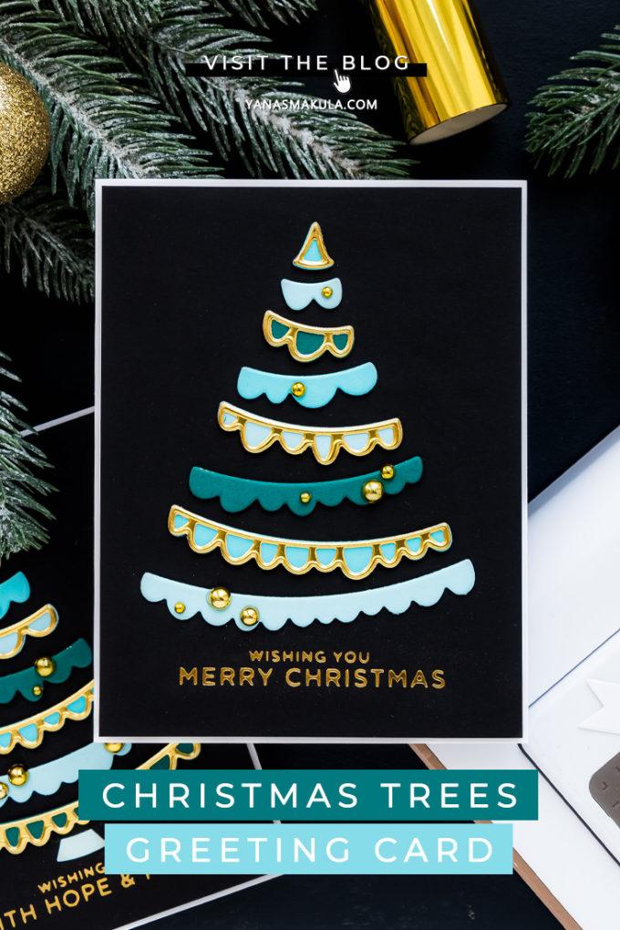 Spellbinders | It's a Christmas Season - Joyful Christmas Tree Cards by Yana Smakula featuring S3-399 Die D-Lites Joyful Christmas Tree Etched Dies from Sparking Christmas Collection #Spellbinders #NeverStopMaking #Cardmaking #Christmascardmaking