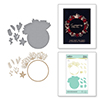 Christmas Foliage Circle Border Glimmer Hot Foil Plate and Dies