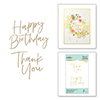 Spellbinders Thank You & Happy Birthday Glimmer Hot Foil Plate Set
