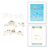 Glimmer Winter Village Glimmer Hot Foil Plate