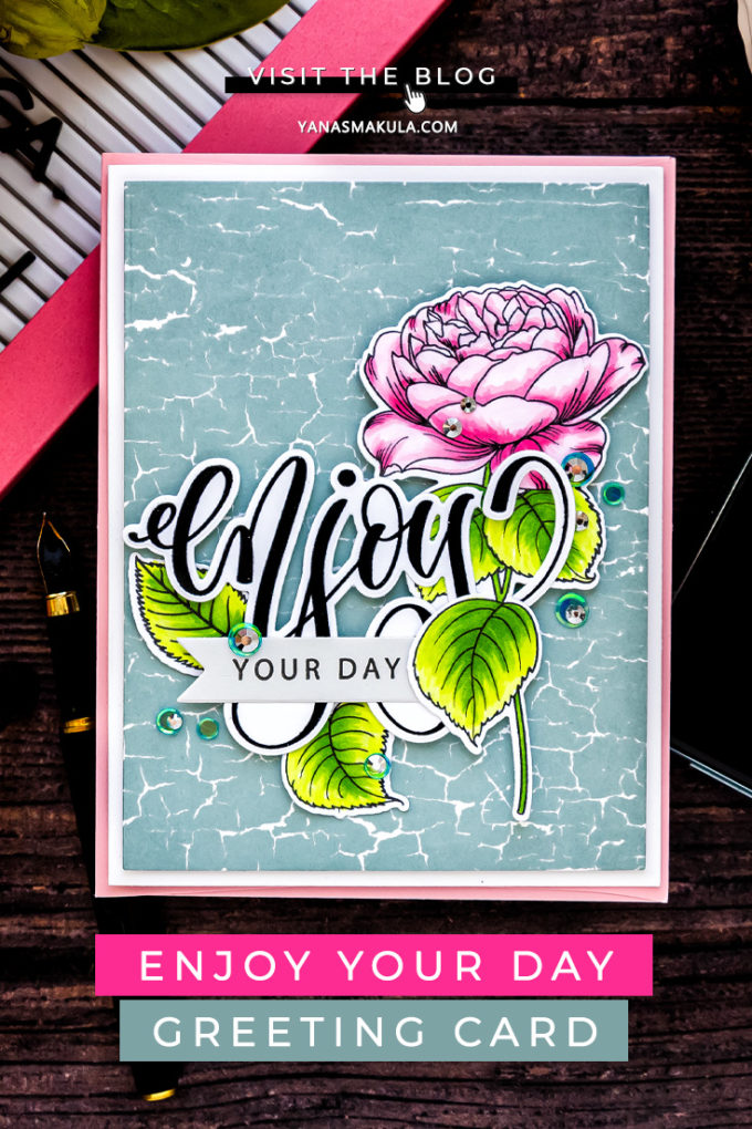 Simon Says Stamp | Let's Connect Release Inspiration - Enjoy Your Day Card featuring SSS102158 Reverse Crackle Background, SSS202175 Summer Roses #cardmaking #simonsaysstamp #SSSendACard #SSSUnitedWeCraft