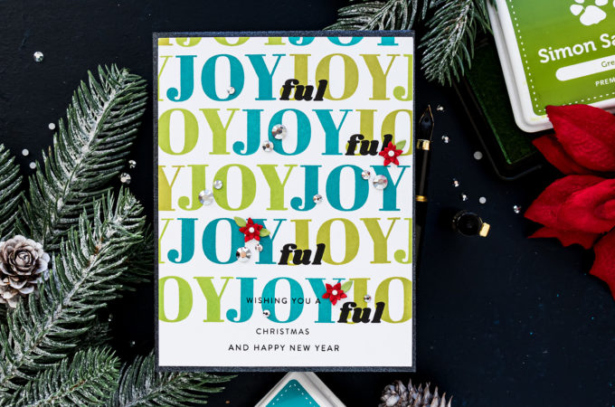 Simon Says stamp | JOYful Christmas Card by Yana Smakula featuring HOLIDAY GREETINGS MIX 1 sss202037 #simonsaysstamp #stamping #cardmaking #christmascard