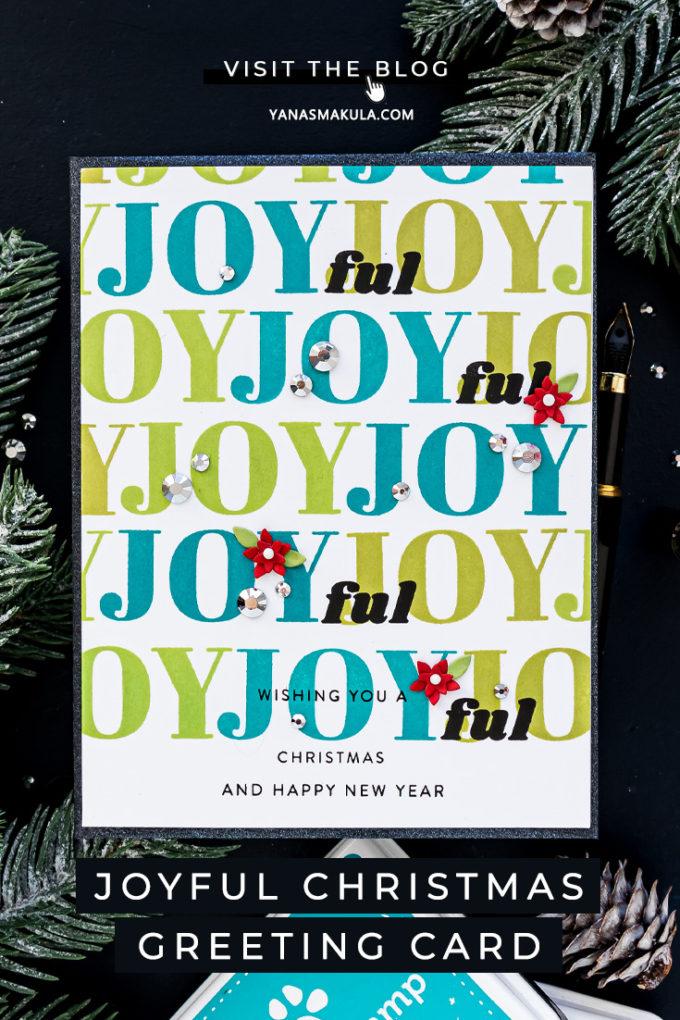 Simon Says stamp | JOYful Christmas Card by Yana Smakula featuring HOLIDAY GREETINGS MIX 1 sss202037 #simonsaysstamp #stamping #cardmaking #christmascard