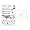 Gina K Designs Snowflake Cascade Clear Stamps and Dies