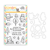 Mama Elephant Winter Fox Clear Stamp and Die Set Stamptember 2020