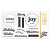 Simon Says Clear Stamps Circle Sentiments Christmas