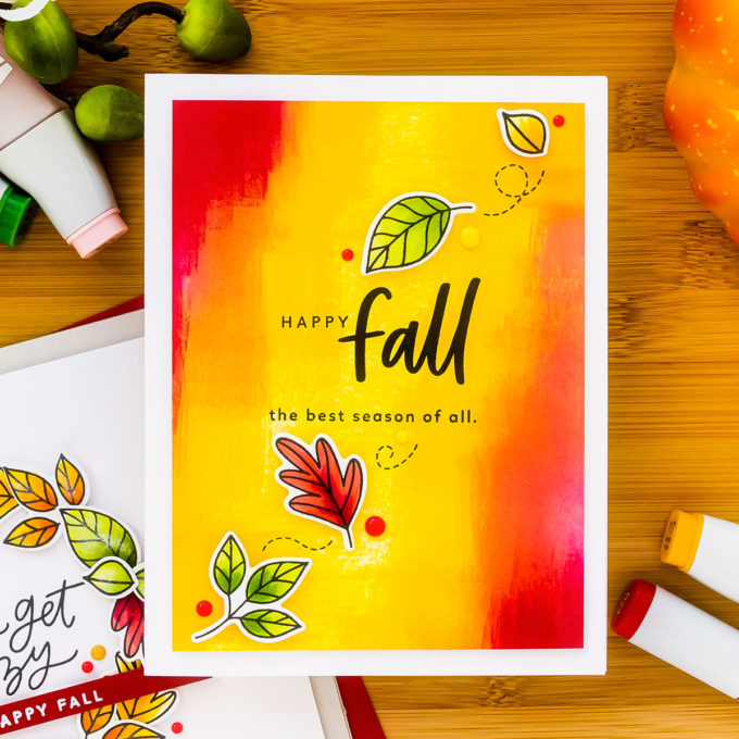 MFT Stamps | Trio of Modern Fall Cards. Video tutorial by Yana Smakula #cardmaking #mftstamps #stamping #handmadecard