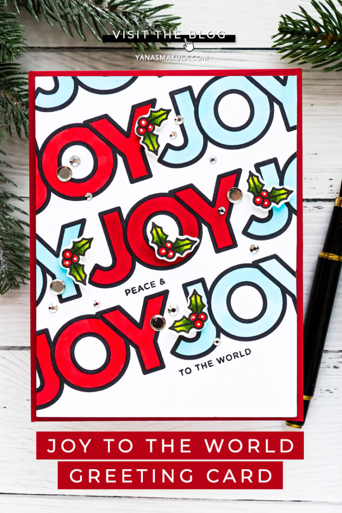 World Card Making Day 2020 and Simon Says Stamp! Pattern Stamping the Easy Way - Joy to the World handmade greeting card by Yana Smakula featuring CHUNKY CHRISTMAS cz361c #Cardmaking #SimonSaysStamp #ChristmasCard #WorldCardmakingDay