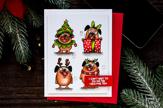STAMPtember | Whimsy Stamps Exclusive - Happy Pugmas