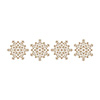 Snowflake Sparkle Border Glimmer Hot Foil Plate