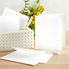Spellbinders A2 White Card Bases - Side Fold - 25 pack