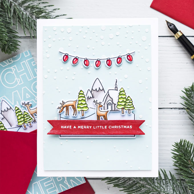 Simon Says Stamp | Slimline Products on A2 Cards. Video tutorial #cardmaking #stamping