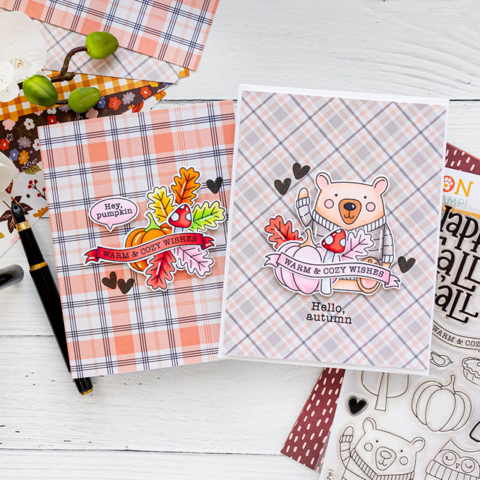 Simon Says Stamp | October 2020 Card Kit Greeting Cards - Happy Fall Ya'll. Handmade card by Yana Smakula #cardmaking #sssck