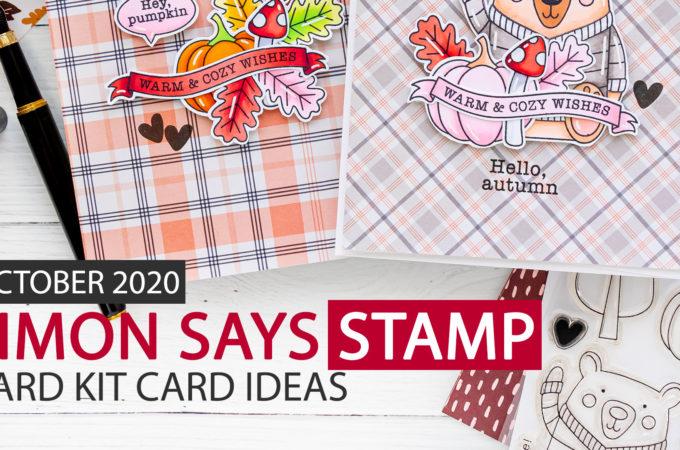 Simon Says Stamp | October 2020 Card Kit Greeting Cards - Happy Fall Ya'll. Handmade card by Yana Smakula #cardmaking #sssck