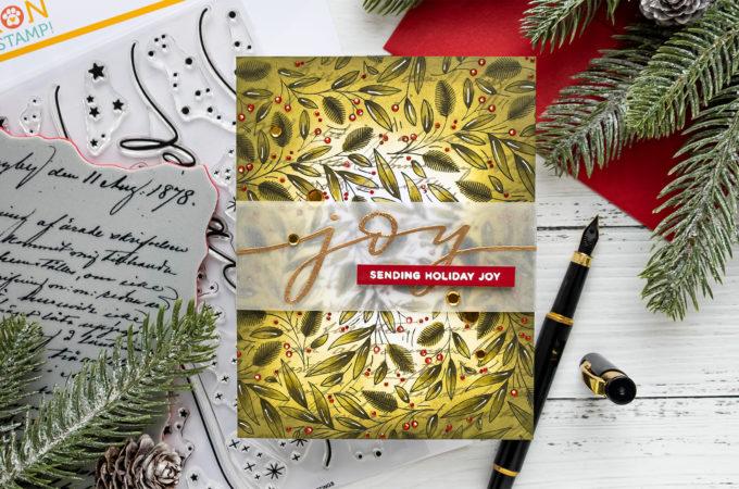 Simon Says Stamp | Sending Holiday Joy Christmas Greeting Card