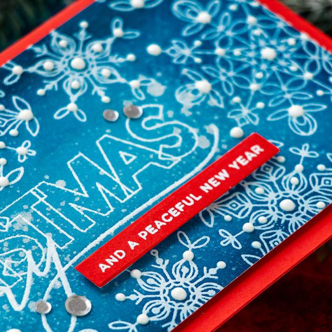 Simon Says Stamp | Handmade Slimline Merry Christmas Greeting Card