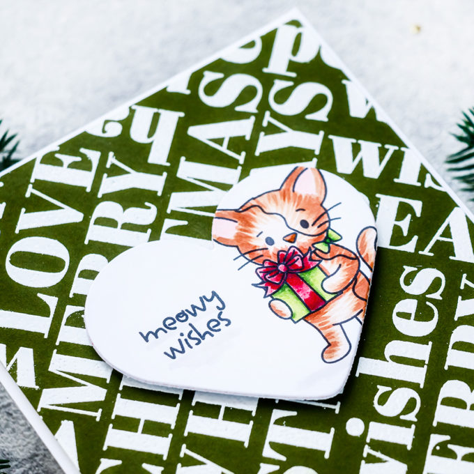Simon Says Stamp | Meowy Wishes Christmas Card