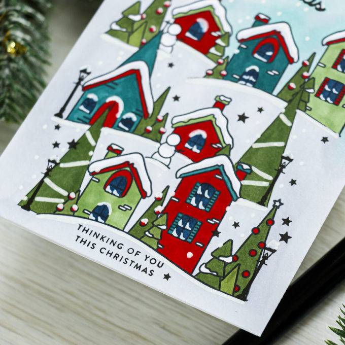 Simon Says Stamp | One Layer Christmas Card featuring SANTA'S SLEIGH RIDE SLIDER sss302235c