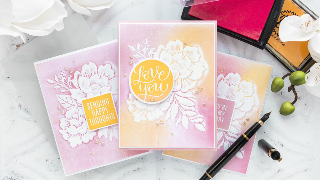 Simon Says Stamp | NEW Holly Jolly Release - 3D Embossing Floral Cards