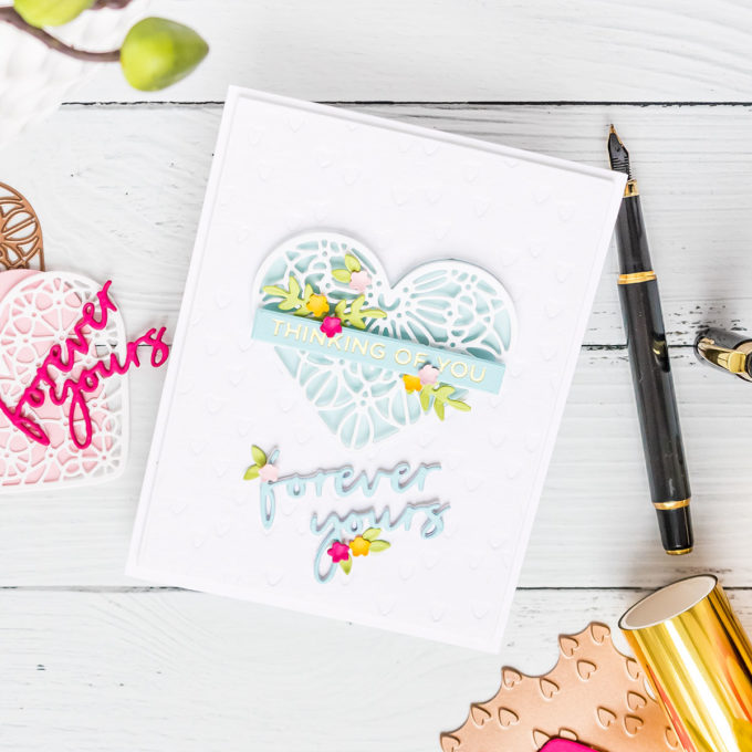 Foiled Love Greeting Cards with Spellbinders Expressions of Love Collection. Watch video tutorial for the how-to