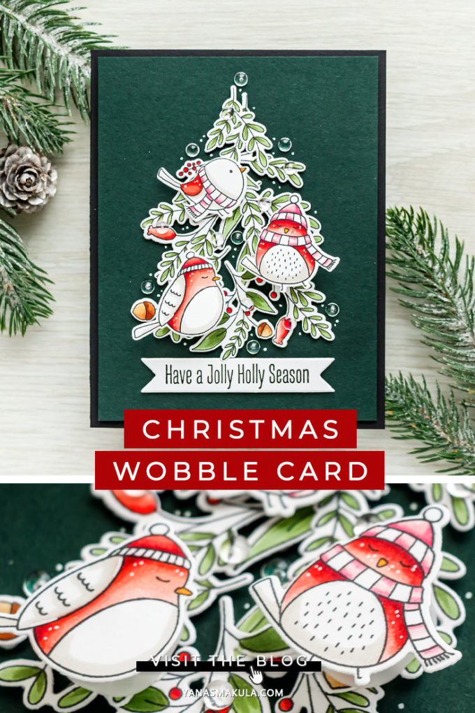 MFT Stamps | Interactive Action Wobble Christmas Card. Video